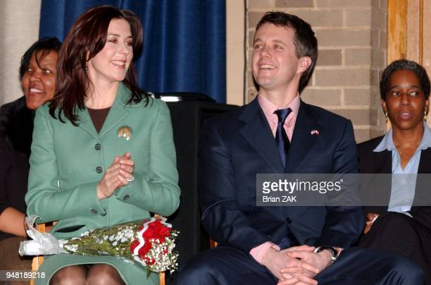 Crown Prince Frederik And Crown Princess Mary Of Denmark Visit Public School 144 Hans Christian Andersen Complex New York City