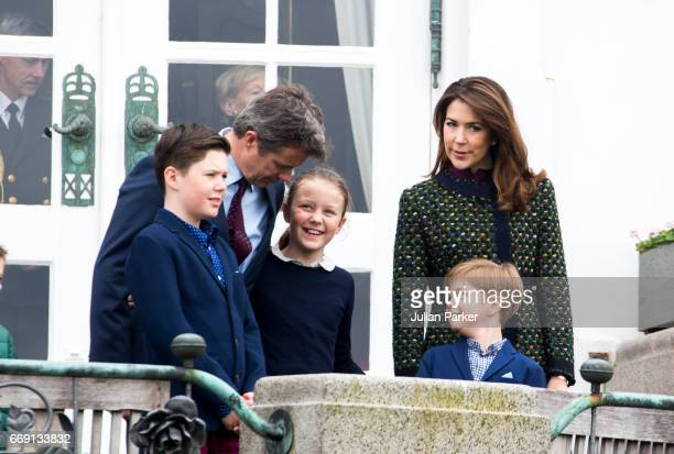 Crown Prince Frederik and Crown Princess Mary of Denmark with children Prince Christian of Denmark Princess Isabella of Denmark and Prince Vincent of...