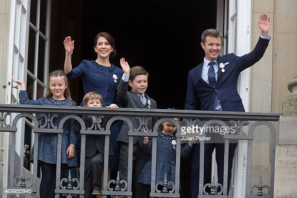 Crown Prince Frederik and Crown Princess Mary of Denmark with their children Princess Josephine Princess Isabella Prince Vincent and Prince Christian...