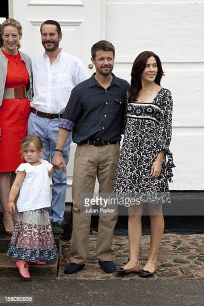Crown Prince Frederik And Crown Princess Mary With Their Daughter Princess Isabella As The Danish Royal Family Attend A Photocall At Grasten Castle...