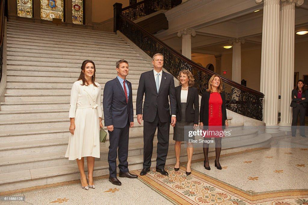 The Danish Crown Prince Couple Visit Boston, Massachusetts : News Photo
