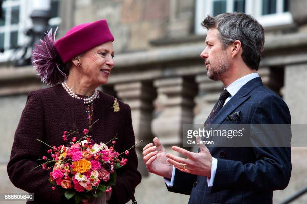 Crown Prince Frederik and Princess Benedikte seen at their arrival to the Parliament to October 31 2017 in Copenhagen Denmark