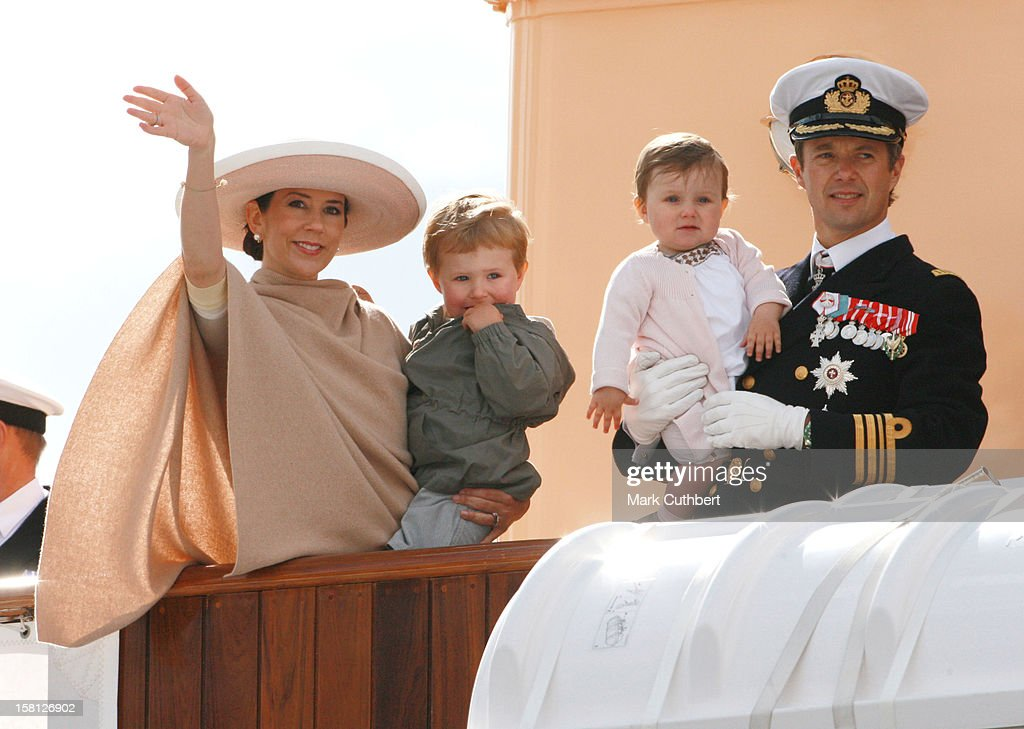 Crown Prince Frederik And Princess Mary In Haderslev At The Start Of A 3 Day Summer Cruise On The Royal Yacht Dannebrog.