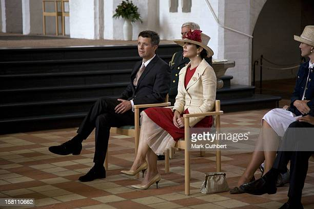 Crown Prince Frederik And Princess Mary Visiting A Convent In Nykobing Denmark