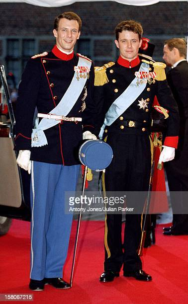 Crown Prince Frederik Attends The Wedding Of Prince Joachim Princess Alexandra Of Denmark At Frederiksborg Castle