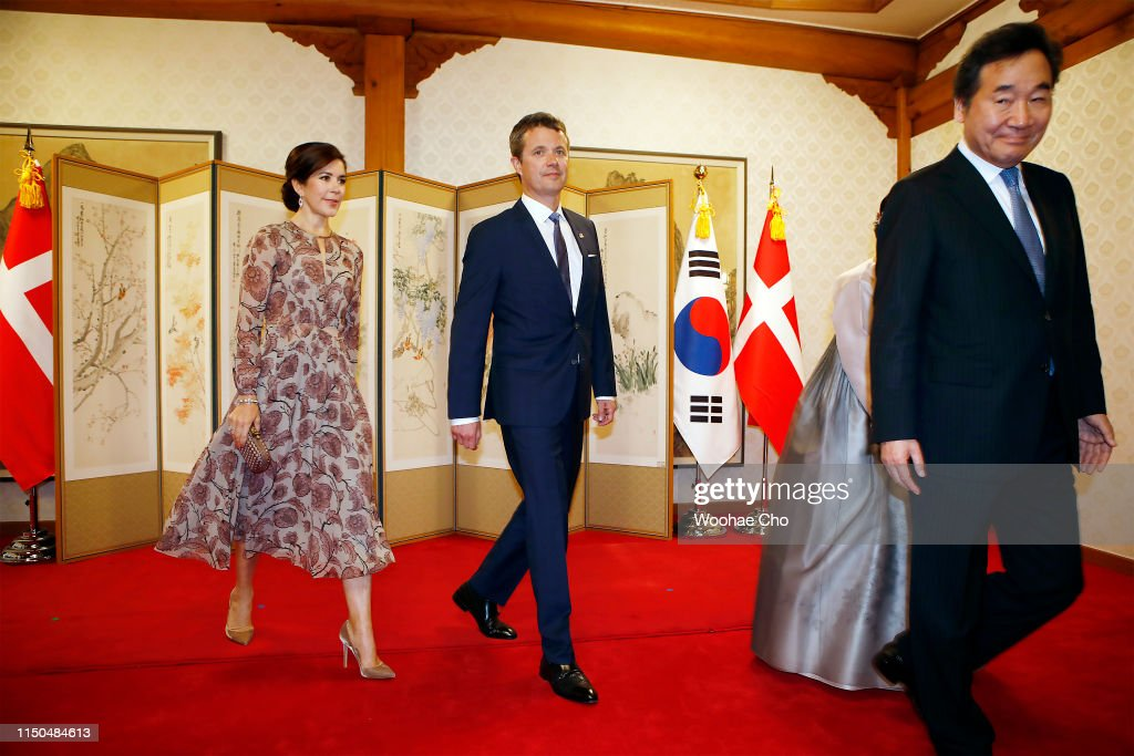 Crown Prince and Princess of Denmark Visit South Korea - Day 1 : News Photo