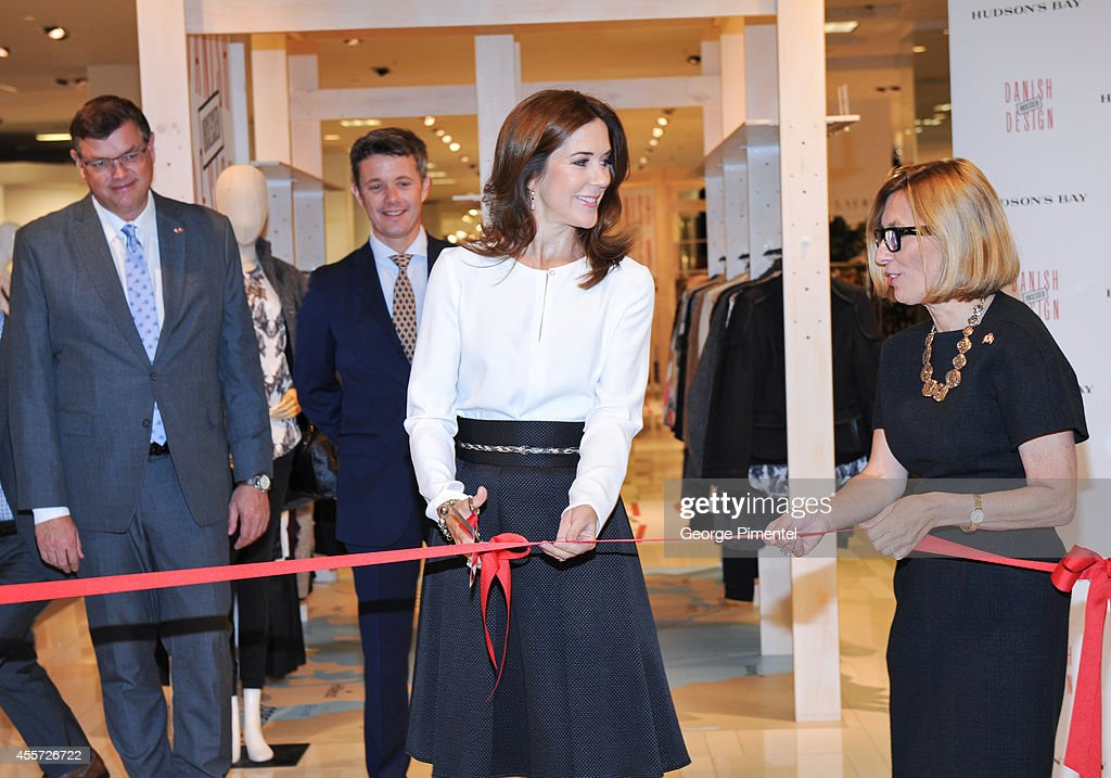 Crown Prince Frederik, Crown Princess Mary of Denmark and Liz Rodbell, President of Hudson's Bay attend official visit to Canada - Day 3 at The Hudson's Bay on September 19, 2014 in Toronto, Canada.