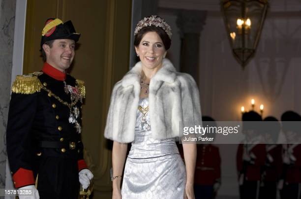 Crown Prince Frederik Crown Princess Mary Of Denmark Attend The Traditional New Year Gala Dinner At Amalienborg Palace In Copenhagen Denmark