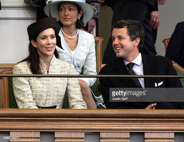 Crown Prince Frederik Crown Princess Mary Of Denmark Attend The Opening Of The Danish Parliament In Copenhagen