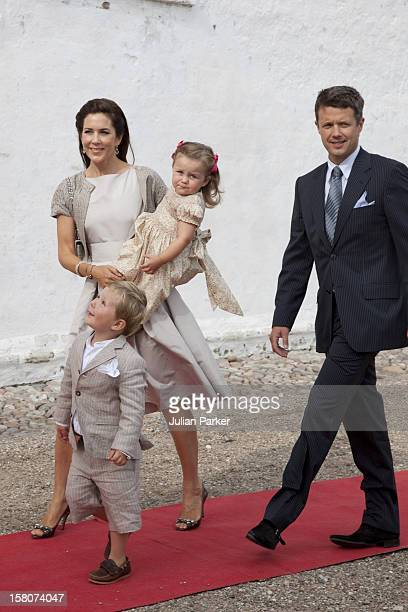 Crown Prince Frederik Crown Princess Mary Of Denmark Prince Christian And Princess Isabella Attend The Christening Of Prince Henrik Carl Joachim...