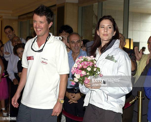 Crown Prince Frederik Crown Princess Mary Of Denmark Return To The ShangriLa Hotel After Taking Part In A Sailing Match On Sydney Harbour During...