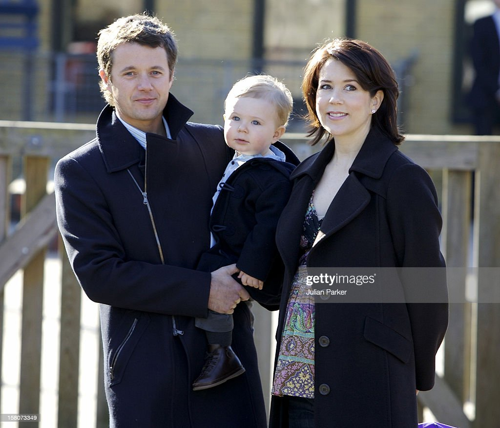 Prince Christian Of Denmark On His First Day Of Nursery School : News Photo
