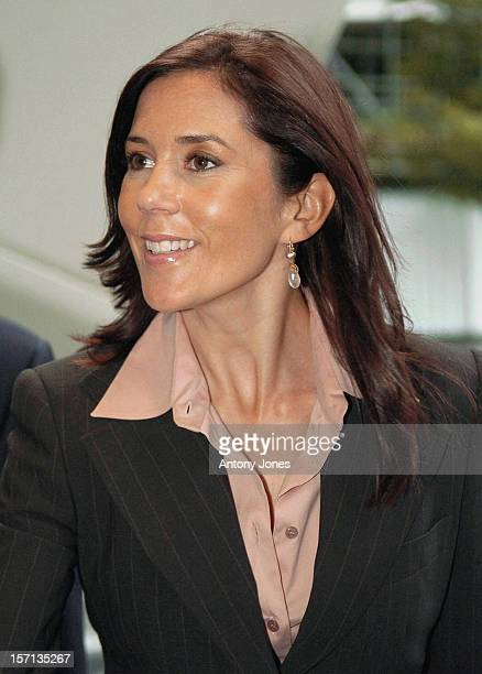 Crown Prince Frederik Crown Princess Mary Of Denmark Visit The Swiss Re Building In London