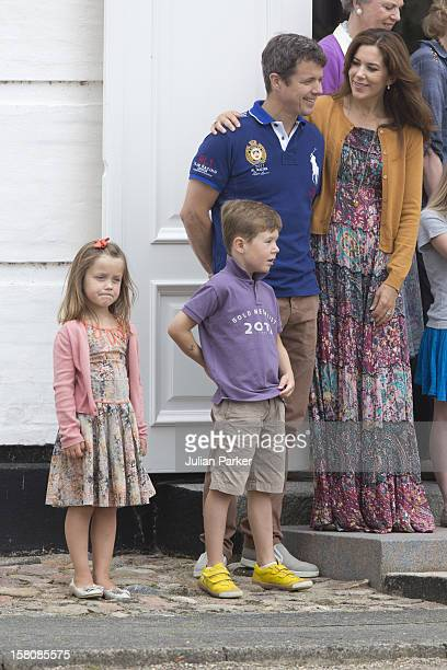 Crown Prince Frederik Crown Princess Mary Princess Isabella And Prince Christian Of Denmark Of The Danish Royal Family Watch The Guard Change At...