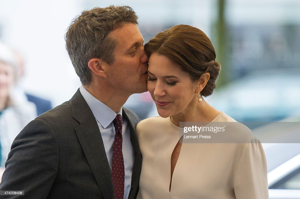 Crown Prince Frederik And Crown Princess Mary Of Denmark Visit Germany : News Photo