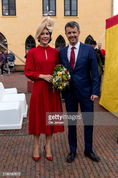Crown Prince Frederik of Denmark and Crown Princess Mary of Denmark participate in celebrations of the 800 year anniversary of the Danish flag on...
