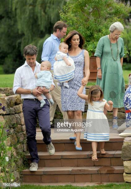 Crown Prince Frederik of Denmark and Crown Princess Mary of Denmark, Princess Isabella and the twins Vincent Frederik Minik Alexander and Josephine...