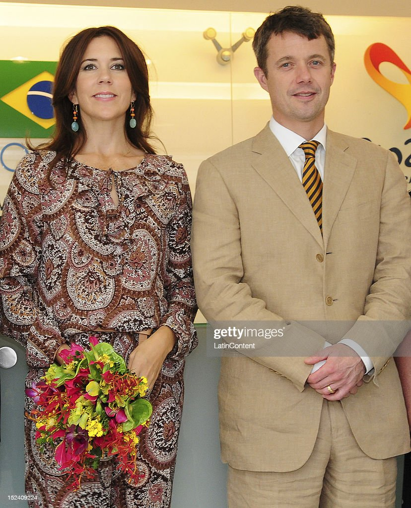 Crown Prince Couple of Denmark Visits Brazilian Olympic Committee : News Photo