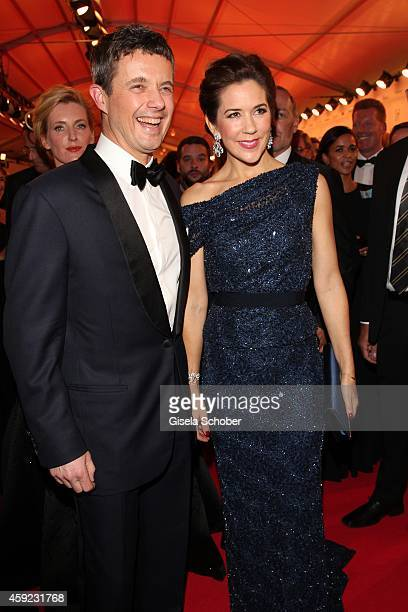 Crown Prince Frederik of Denmark and Crown Princess Mary of Denmark arrive at the Bambi Awards 2014 on November 13 2014 in Berlin Germany