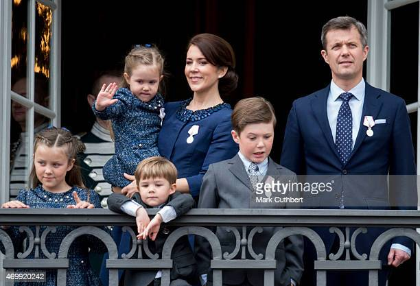 Crown Prince Frederik of Denmark and Crown Princess Mary of Denmark with Prince Christian of Denmark Prince Vincent of Denmark Princess Isabella of...
