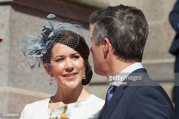 Crown Prince Frederik of Denmark and Crown Princess Mary of Denmark at Christiansborg Palace on the occasion of The 100th Anniversary of The 1915...
