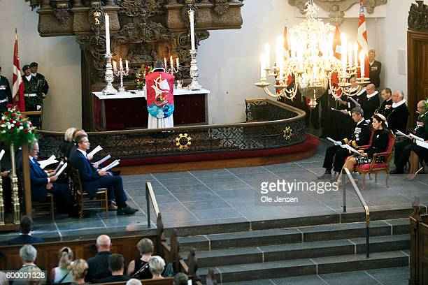 Crown Prince Frederik of Denmark and Crown Princess Mary of Denmark attend the Flag Day ceremony for international deployed military personnel...