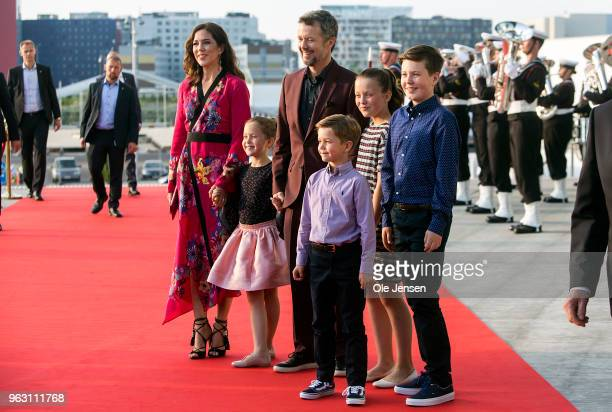 Crown Prince Frederik of Denmark and Crown Princess Mary together with their four children Princess Josephine Prince Vincent Princess Isabella Prince...