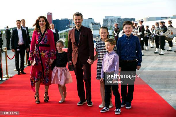 Crown Prince Frederik of Denmark and Crown Princess Mary together with their four children - Princess Josephine, Princess Isabella, Prince Vincent,...