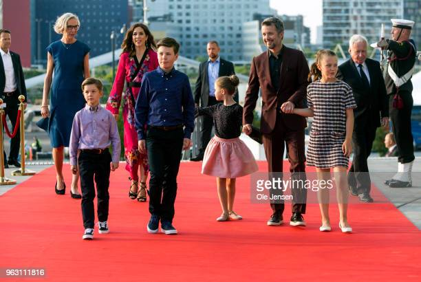 Crown Prince Frederik of Denmark and Crown Princess Mary together with their four children Prince Vincent prince Christian Princess Josephine...