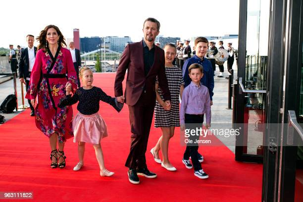 Crown Prince Frederik of Denmark and Crown Princess Mary together with their four children Princess Josephine Princess Isabella Prince Vincent Prince...