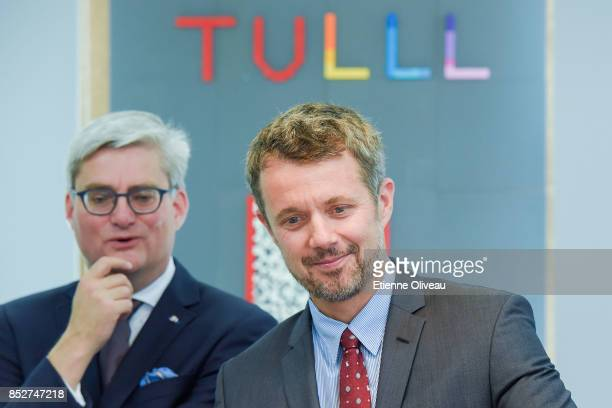 Crown Prince Frederik of Denmark and Danish Minister of Higher Education, Soren Pind visit the Tsinghua Life Long Learning Lab, TULL dedicated to...
