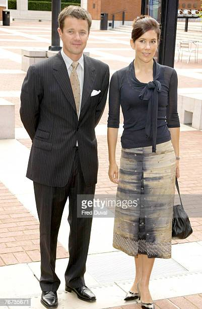 HRH Crown Prince Frederik of Denmark and HRH Crown Princess Mary of Denmark at the British Library in London The royal couple participated in the...