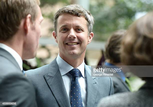 Crown Prince Frederik of Denmark attends official visit to Canada Day 2 at MARS Discovery District on September 18 2014 in Toronto Canada