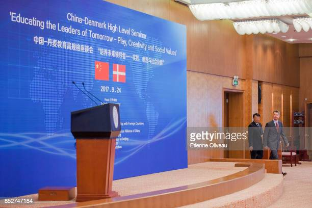 Crown Prince Frederik of Denmark attends the Opening of the Sino-Danish high-level seminar, Educating the leaders of tomorrow Ð play, creativity,...