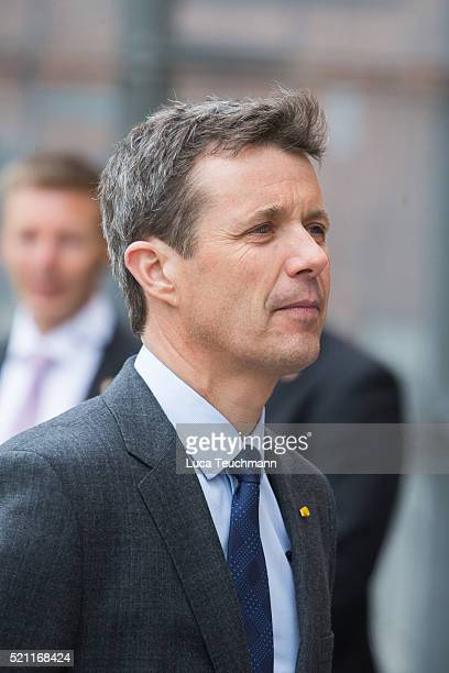 Crown Prince Frederik of Denmark attends visit to Tjornegaard School during the State visit of the President of The United Mexican States President...