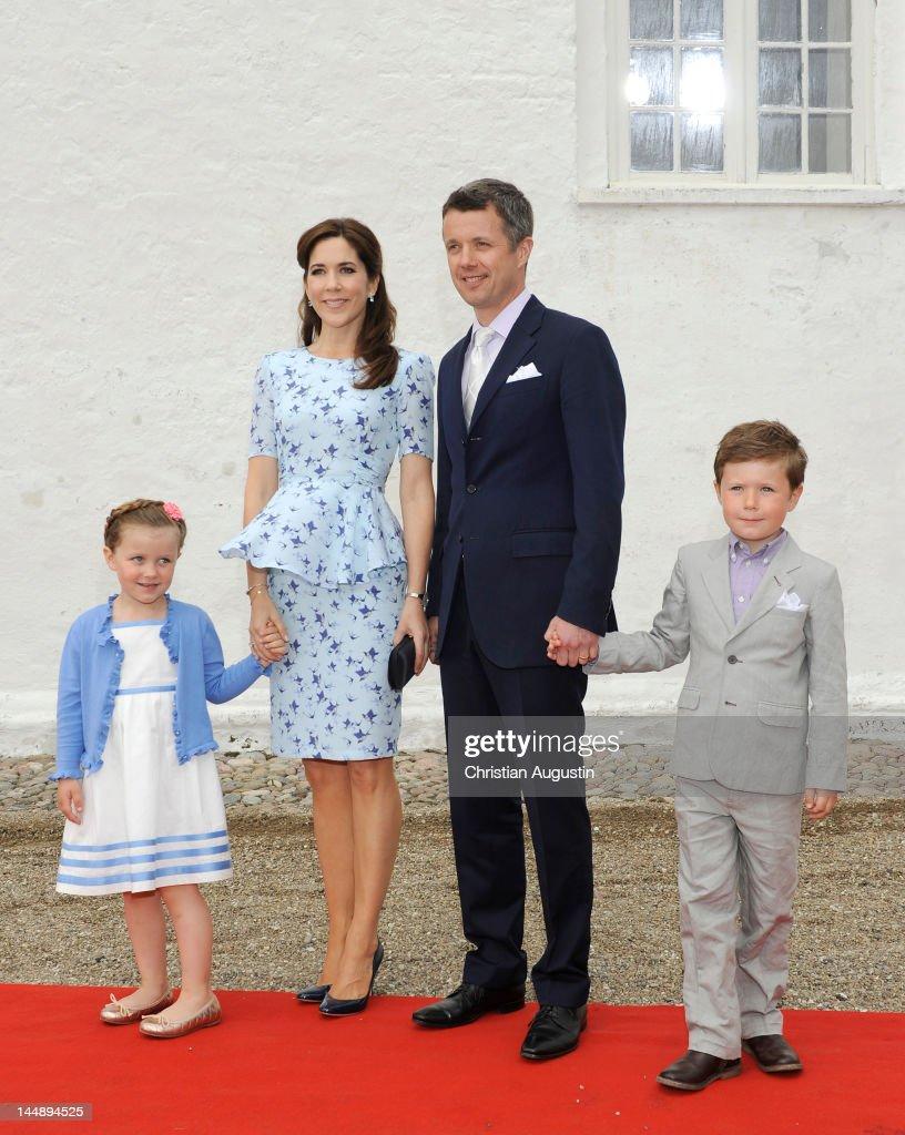 Christening of Prince Joachim and Princess Marie of Denmark's Daughter : News Photo