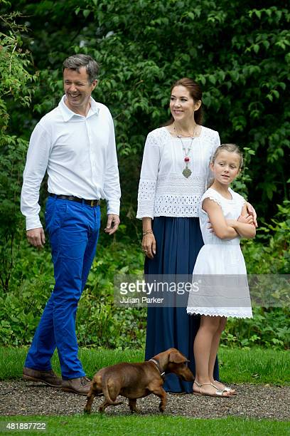 Crown Prince Frederik of Denmark Crown Princess Mary of Denmark and Princess Isabella of Denmark attend the annual summer Photocall for The Danish...