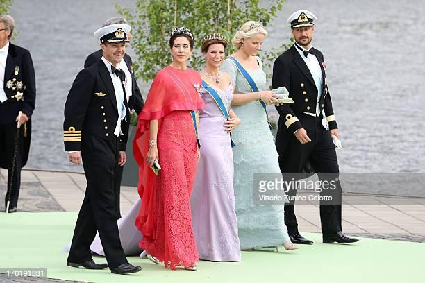Crown Prince Frederik of Denmark Crown Princess Mary of Denmark Princess Martha Louise of Norway Crown Princess MetteMarit of Norway and Crown Prince...