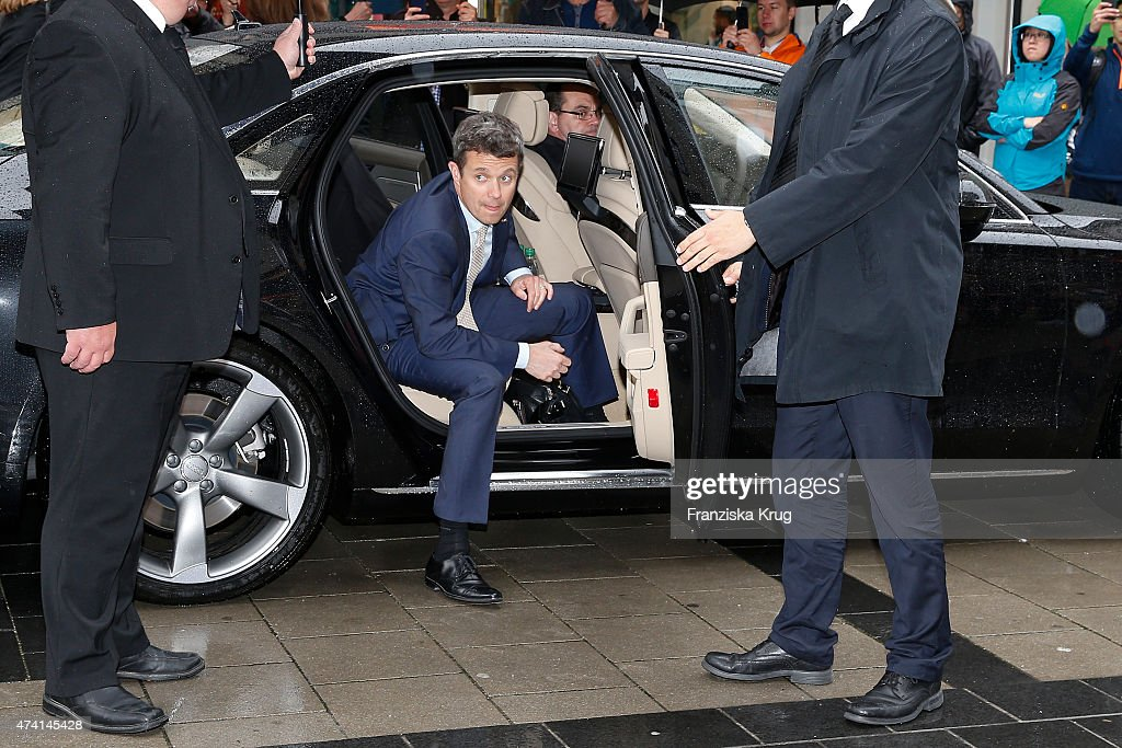 Crown Prince Frederik of Denmark during the ECCO store opening on May 20, 2015 in Munich, Germany.