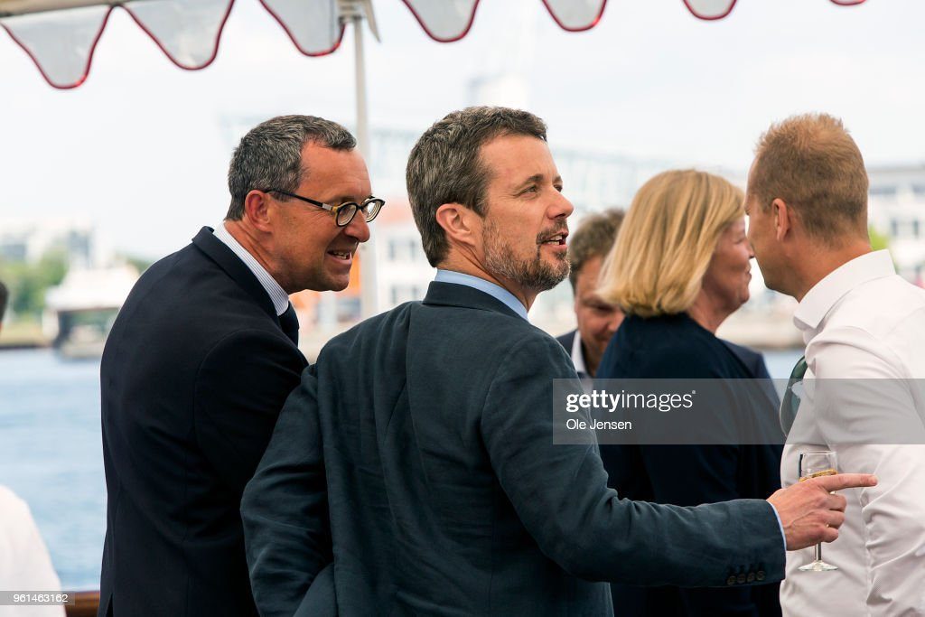 Crown Prince Fredrik Of Denmark Holds Reception On Royal Yacht As Part Of 50th Birthday Celebrations
