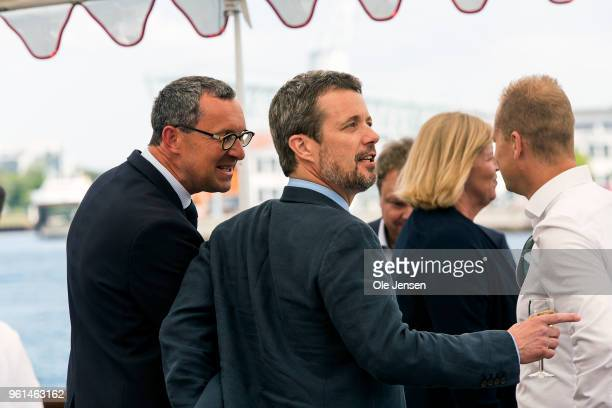 Crown Prince Frederik of Denmark during the reception on the Royal Yacht Dannebrog on the occasion of his 50th birthday celebration on May 22 2018 in...