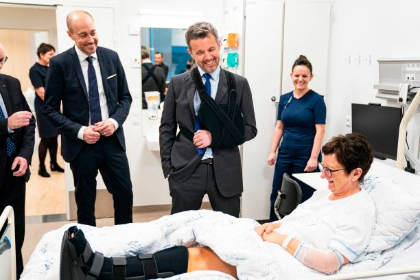 Crown Prince Frederik of Denmark inaugurates South Jutland's new Emergency Hospital in Aabenraa Denmark on February 20 2020 The Crown Prince is...