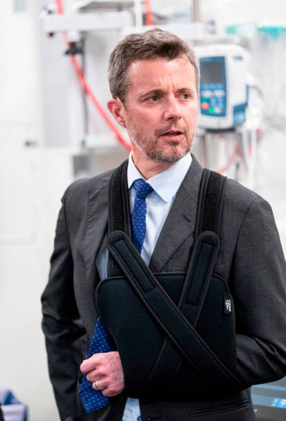 Crown Prince Frederik of Denmark inaugurates South Jutland's new Emergency Hospital in Aabenraa Denmark on February 20 2020 The Crown Prince injured...