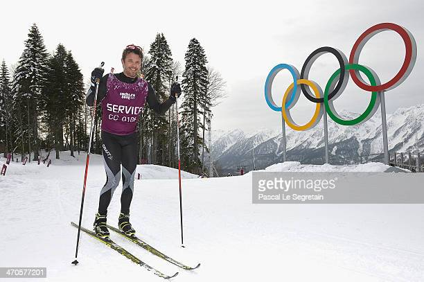 Crown Prince Frederik of Denmark poses during day 13 of the 2014 Sochi Winter Olympics at Laura Cross-country Ski & Biathlon Center on February 20,...