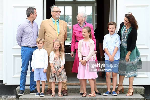 Crown Prince Frederik of Denmark, Prince Vincent of Denmark, Prince Henrik of Denmark, Princess Josephine of Denmark, Queen Margrethe II of Denmark,...