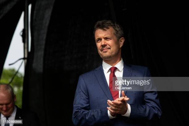 Crown Prince Frederik of Denmark seen at the celebration of the 800 year anniversary of the Danish flag on June 15, 2019 in Vordingborg, Denmark....