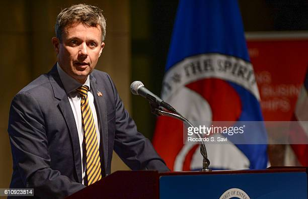 Crown Prince Frederik of Denmark speaks at the US Chamber of Commerce on September 28 2016 in Washington DC