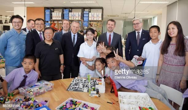 Crown Prince Frederik of Denmark , Vice president at Tsinghua Univeristy, Yang Bin , CEO of the LEGO Foundation, John Goodwin , The Ambassador of...