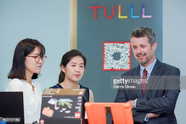 Crown Prince Frederik of Denmark visits the Tsinghua Life Long Learning Lab, TULL dedicated to promotion research in children's creativity and...