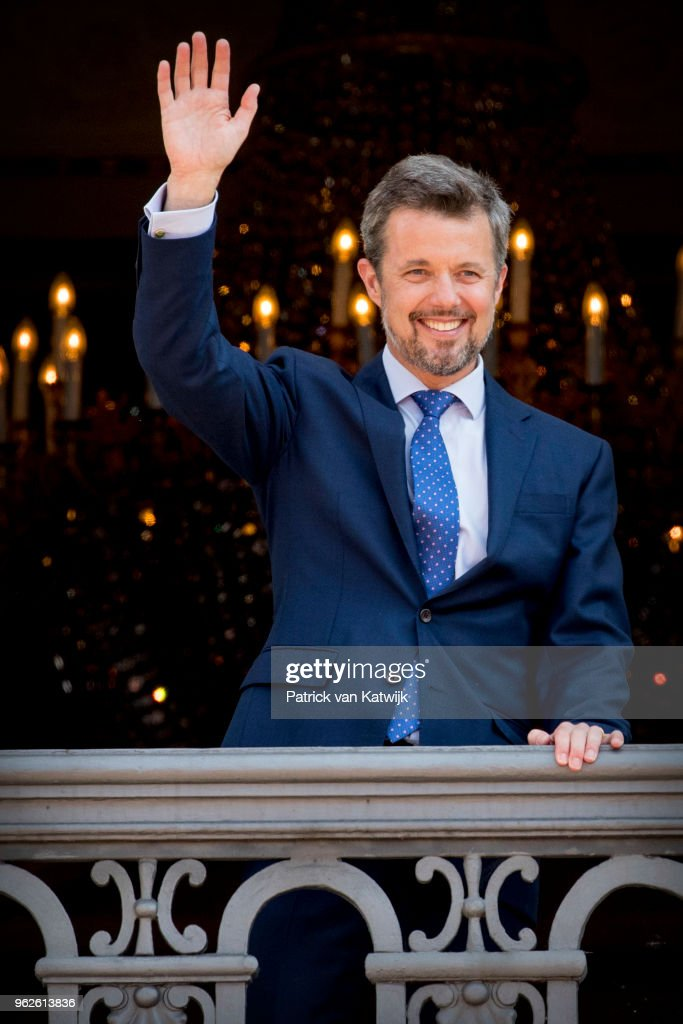 Crown Prince Frederik Of Denmark Receives From The Palace Balcony The People's Homage On His 50th Birthday
